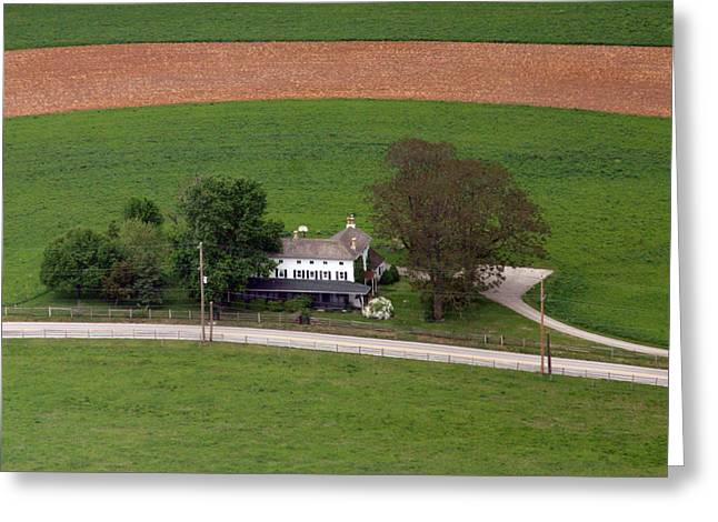 Plymouth Meeting Aerials Greeting Cards - Erdenheim Farm 2 Greeting Card by Duncan Pearson
