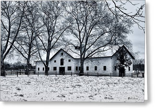 Erdenheim Farm Greeting Cards - Erdenheim Farm in the Snow Greeting Card by Bill Cannon