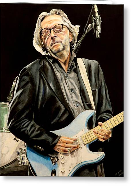 Crossroads Greeting Cards - Eric Clapton Greeting Card by Chris Benice
