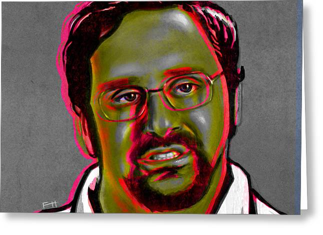 Humor Digital Art Greeting Cards - Eric Wareheim Greeting Card by Fay Helfer