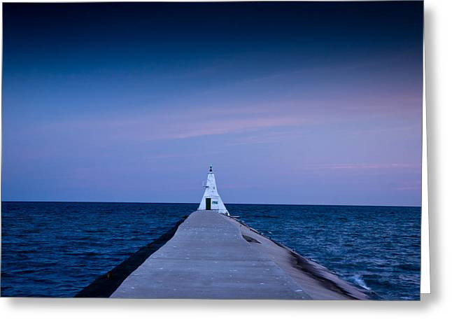 Lake Erie Photographs Greeting Cards - Erieu Lighthouse Greeting Card by Cale Best