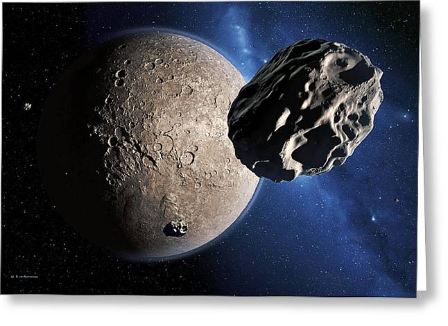Gabrielle Greeting Cards - Eris Dwarf Planet Greeting Card by Detlev Van Ravenswaay