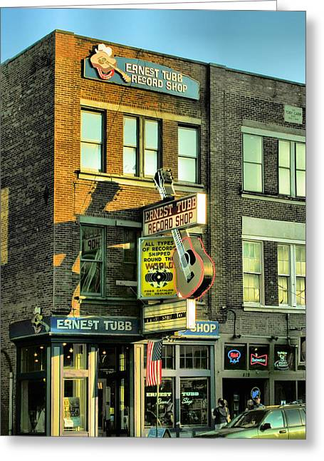 Historic Country Store Greeting Cards - Ernest Tubbs Record Store Greeting Card by Steven Ainsworth