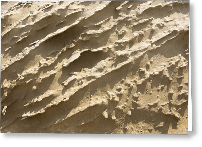 Geomorphology Greeting Cards - Eroded Sedimentary Rock Greeting Card by Dirk Wiersma