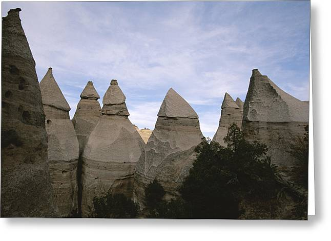 Kasha Katuwe Tent Rocks Greeting Cards - Erosion-chiseled Rock Formations Formed Greeting Card by Melissa Farlow