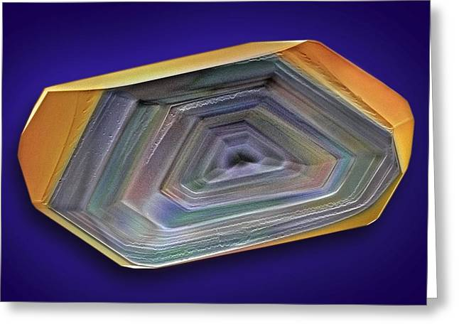 Low-calorie Greeting Cards - Erythritol Crystal, Sem Greeting Card by David Mccarthy