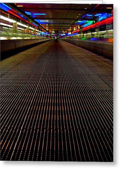 Escalator View ... Greeting Card by Juergen Weiss