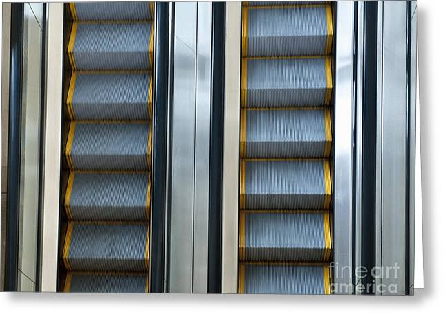 Automated Greeting Cards - Escalators Greeting Card by Dave & Les Jacobs