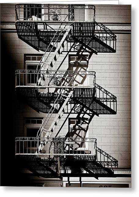 Exit Greeting Cards - Escape Greeting Card by Dave Bowman