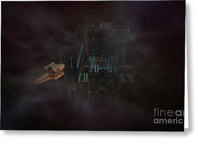 Phantasy Greeting Cards - Escape in space Greeting Card by Jan Willem Van Swigchem