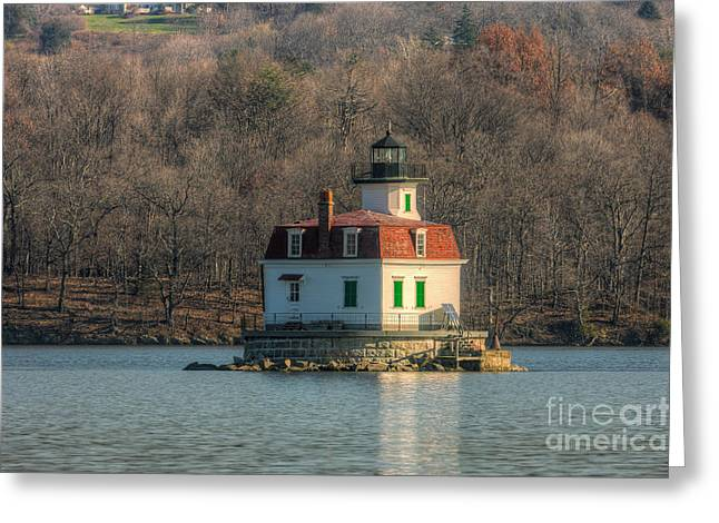 Esopus Meadows Lighthouse I Greeting Card by Clarence Holmes