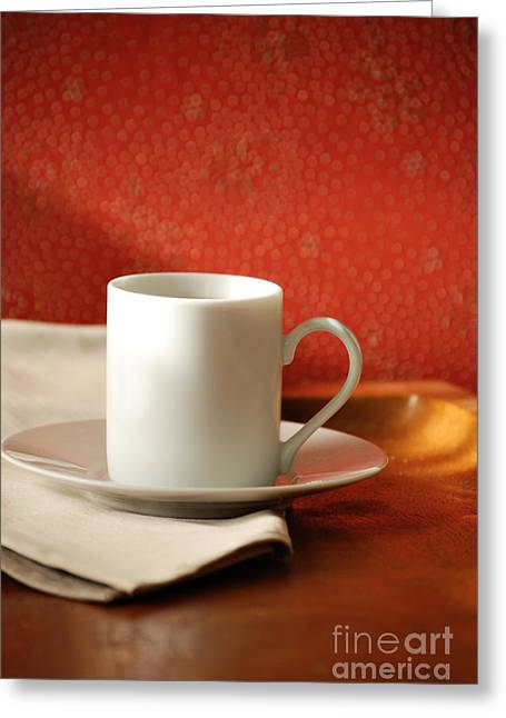 Coffee Drinking Greeting Cards - Espresso Cup Greeting Card by HD Connelly