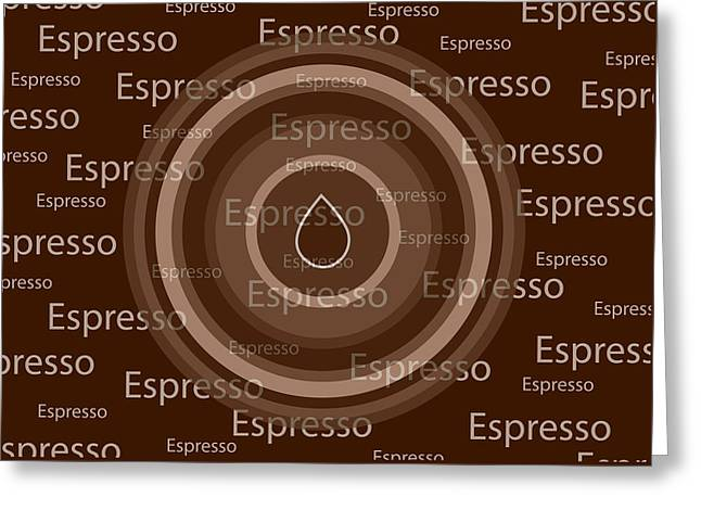 Coffee Prints Greeting Cards - Espresso Greeting Card by Frank Tschakert