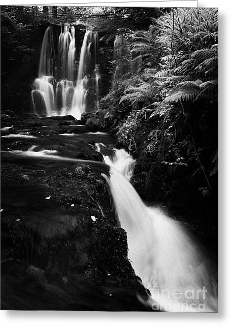 Flooding Greeting Cards - Ess-na-crub Waterfall On The Inver River In Glenariff Forest Park County Antrim Northern Ireland Greeting Card by Joe Fox