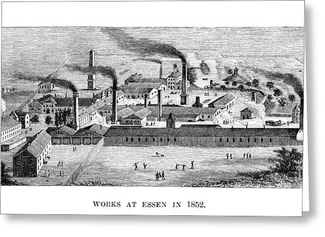 Essen Greeting Cards - Essen: Krupp Works, 1852 Greeting Card by Granger