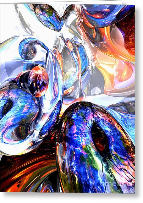 Essence Of Inspiration Abstract Greeting Card by Alexander Butler