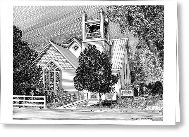 Church Framed Prints Greeting Cards - Estancia United Methodist Church Greeting Card by Jack Pumphrey