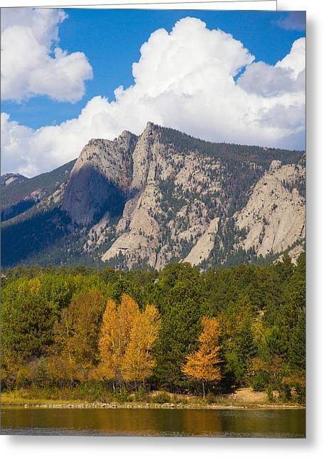 Estes Park Greeting Cards - Estes Lake Autumn View  Greeting Card by James BO  Insogna