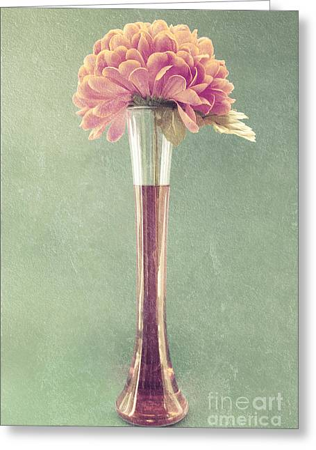 Flower Still Life Greeting Cards - Estillo Vase - s01t04 Greeting Card by Variance Collections