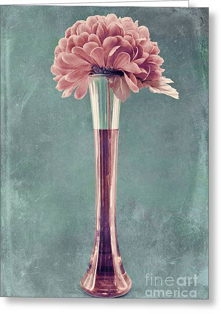 Texture Floral Photographs Greeting Cards - Estillo Vase - s01v4b2t03 Greeting Card by Variance Collections