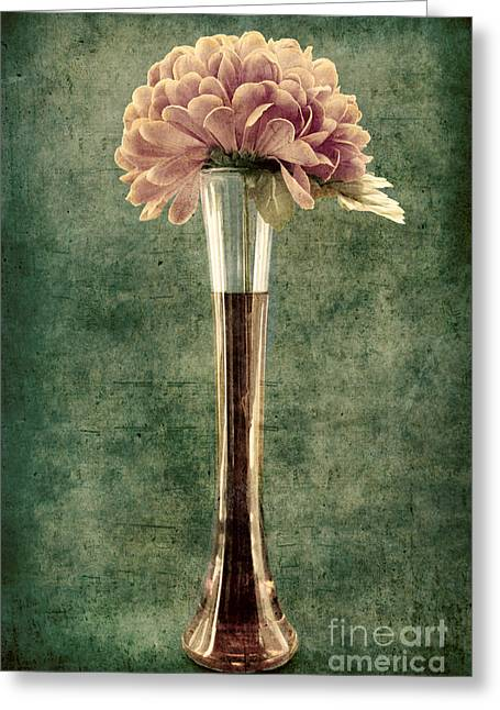 Flower Still Life Greeting Cards - Estillo Vase - s02et01 Greeting Card by Variance Collections