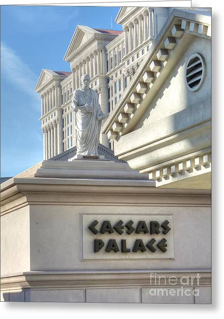 Caesars Palace Greeting Cards - Et tu Brute Greeting Card by David Bearden