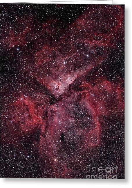 Emission Nebula Greeting Cards - Eta Carinae Nebula Greeting Card by Philip Hart