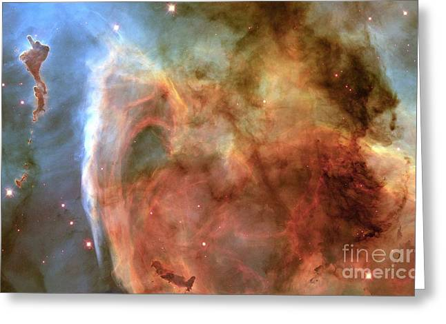 Wfpc2 Greeting Cards - Eta Carinae Nebula Greeting Card by Space Telescope Science Institute / NASA