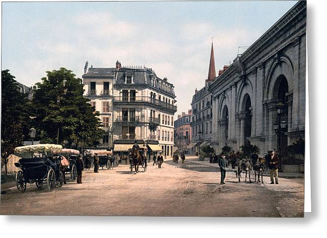 Southern France Greeting Cards - Etablissement Thermal - Aix France Greeting Card by International  Images