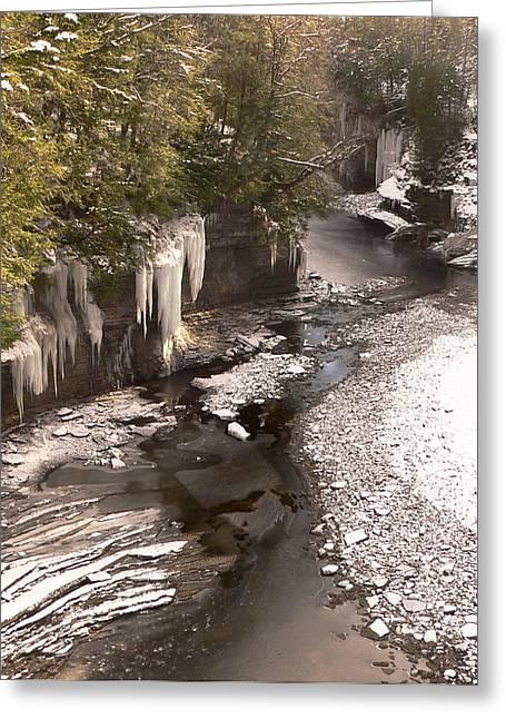 Prospects Greeting Cards - Etched Rocks - Prospect Gorge Greeting Card by Pamela Underhill Karaz