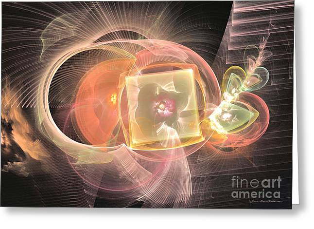 Interior Still Life Mixed Media Greeting Cards - Eternal blossom - abstract art Greeting Card by Abstract art prints by Sipo