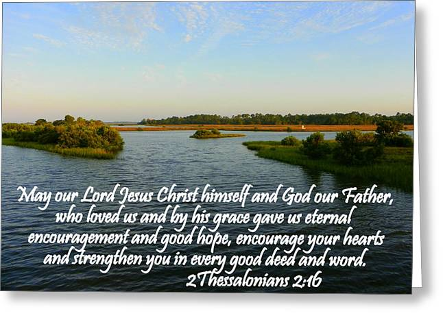 Christian Pictures Digital Greeting Cards - Eternal Encouragement Greeting Card by Sheri McLeroy