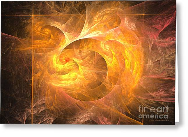 Interior Still Life Mixed Media Greeting Cards - Eternal flame - abstract art Greeting Card by Abstract art prints by Sipo