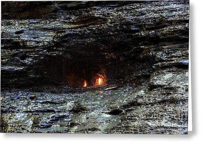 Eternal Flow Photographs Greeting Cards - Eternal Flame Reflections Greeting Card by Darleen Stry
