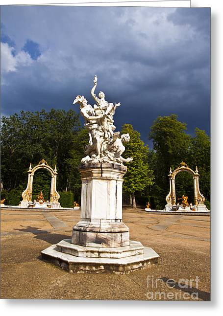 Granja Greeting Cards - Eternal Hermes - La Granja Gardens Greeting Card by Scotts Scapes