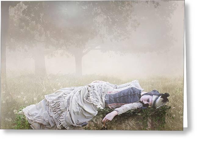 Eternal Rest Greeting Card by Karen H