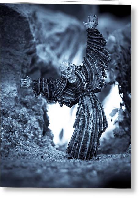 Night Terror Greeting Cards - Eternally Doomed Greeting Card by Marc Garrido
