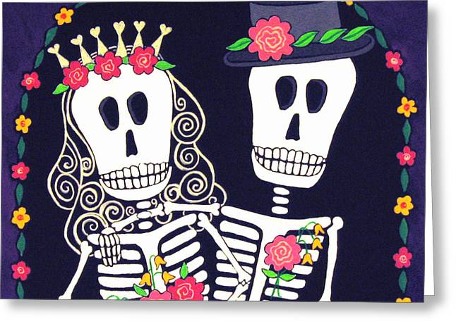 Bride And Groom Greeting Cards - Eterno Amor Greeting Card by Robin Westenhiser