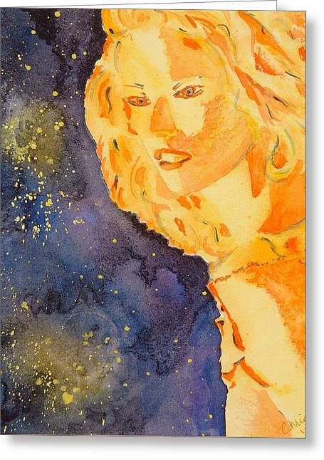 Wet Into Wet Watercolor Greeting Cards - Ethereal Lady Greeting Card by Chris Blevins
