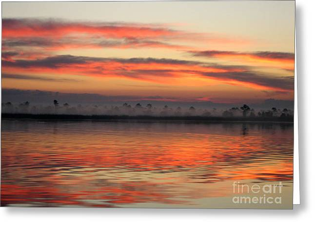 Orange Sky Greeting Cards - Ethereal Sunrise 2 Greeting Card by Judee Stalmack