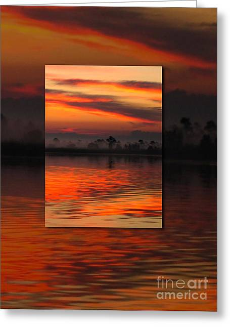 Orange Sky Greeting Cards - Ethereal Sunrise in Sunrise Greeting Card by Judee Stalmack