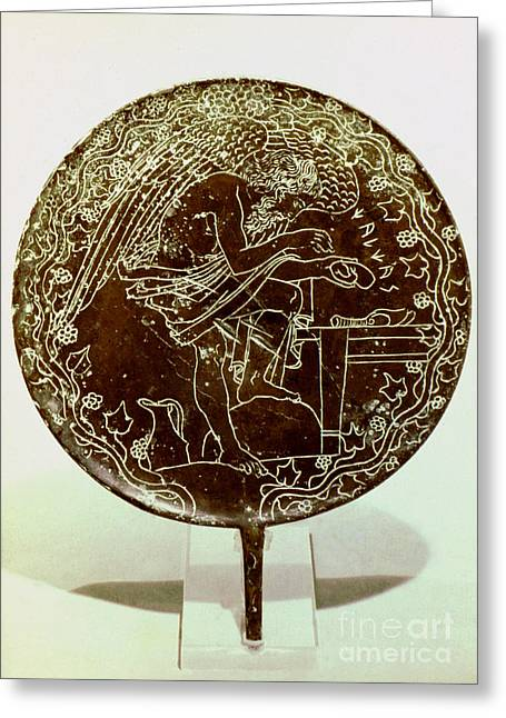 4th Greeting Cards - Etruscan Art: Mirror Greeting Card by Granger