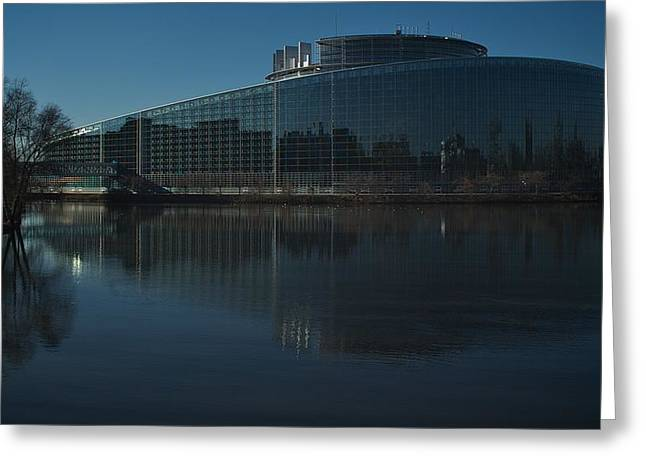 Alsace Greeting Cards - EU Parliament  Greeting Card by Noze P