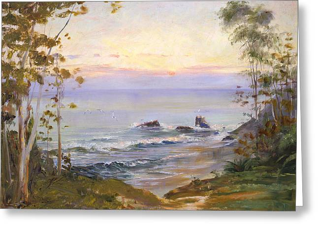 Eucalyptus By The Sea Greeting Card by Lewis A Ramsey