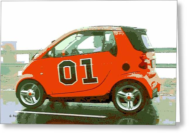 Dukes Of Hazard Show Greeting Cards - European General Lee Greeting Card by George Pedro