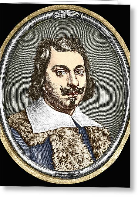 Surname T Greeting Cards - Evangelista Torricelli, Italian Physicist Greeting Card by Sheila Terry