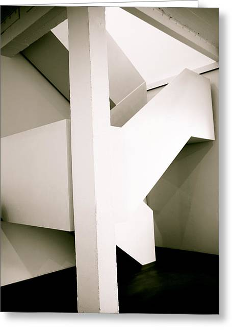 Hirst Greeting Cards - Even The Stairs Are An Exhibit Greeting Card by Jez C Self