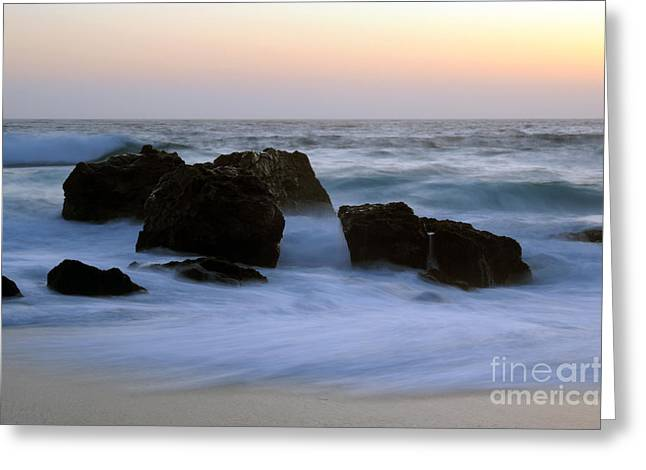 Big Sur Greeting Cards - Evening At Beach Greeting Card by Catherine Lau