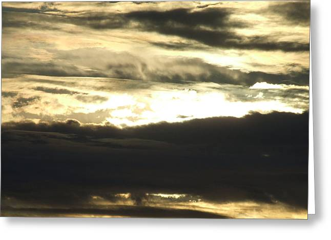 Sun Behind Clouds Greeting Cards - Evening Clouds 1 Greeting Card by Tallulah P