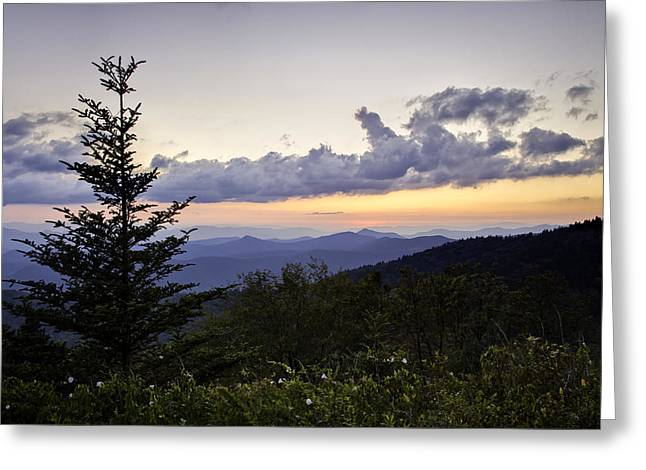 Soft Light Greeting Cards - Evening Falls on the Blue Ridge Greeting Card by Rob Travis